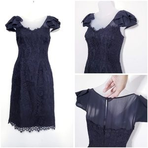 White House Black Market Black Lace Dress Sz. 2